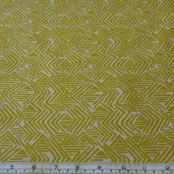 Medium Weight Cotton Fabric - Lime Abstract Print