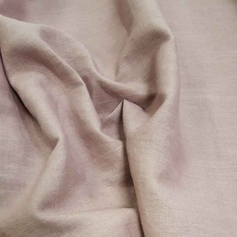 Washed Linen Fabric Dusky Mauve 2038L