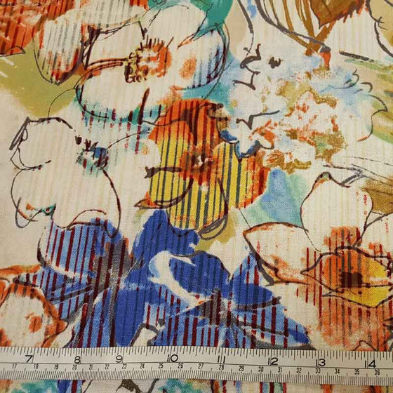 Linen/ Cotton Fabric Floral 2078/N35