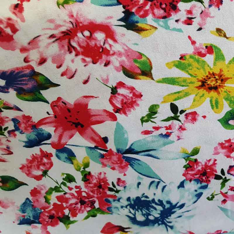 Linen/ Cotton Fabric Floral 2079 P65 - The Fabric Bee
