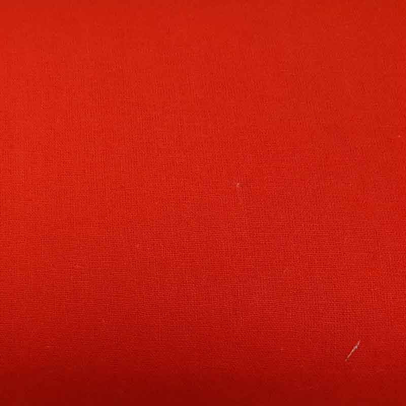 Linen/ Cotton Fabric Bright Red 41221