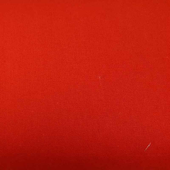 Linen/ Cotton Fabric Bright Red 41221 - The Fabric Bee