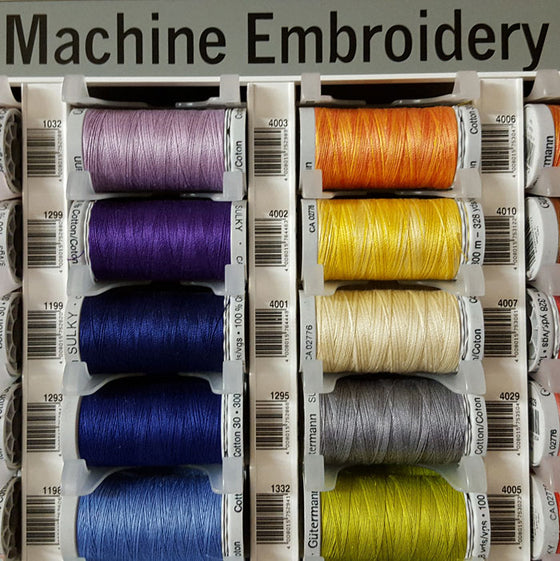 A Thread to Match to your Fabric Order: Gutermann Cotton Machine Embroidery Thread - The Fabric Bee