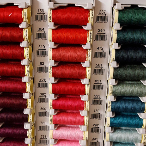 A Thread to Match your Fabric Order: Gutermann Sew All Polyester 100m - The Fabric Bee