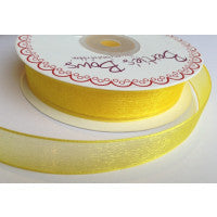 Organza/Sheer Ribbon Yellow 640 - The Fabric Bee