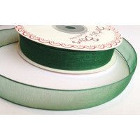Organza/Sheer Ribbon Forest Green 587 - The Fabric Bee
