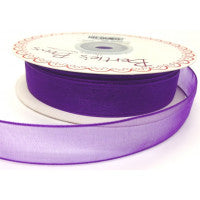 Organza/Sheer Ribbon Purple 465 - The Fabric Bee