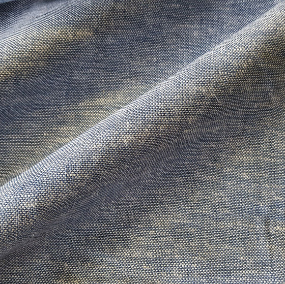 Linen/ Viscose Fabric Pale Blue/White Fleck Q11217/006 - The Fabric Bee