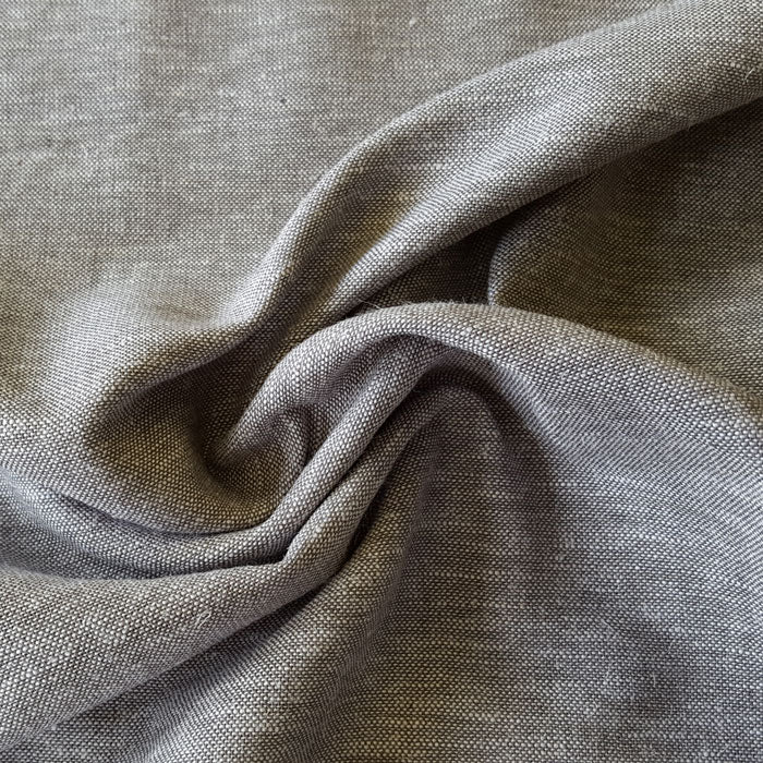 Linen/ Viscose Fabric Grey/White Fleck Q11217/027 - The Fabric Bee