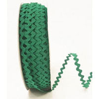 Ric Rac Braid Emerald Green - The Fabric Bee