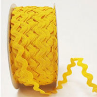 Ric Rac Braid Yellow - The Fabric Bee