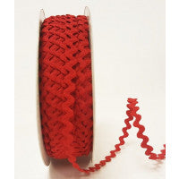 Ric Rac Braid Red - The Fabric Bee