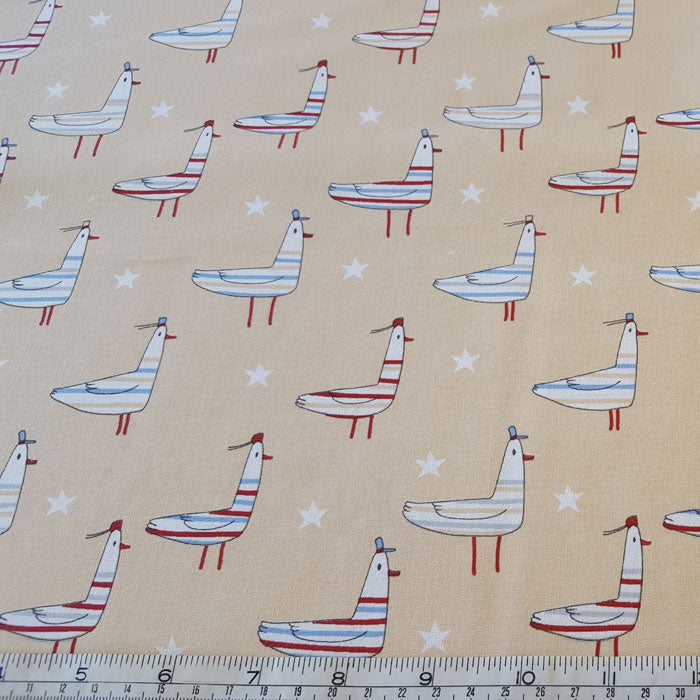 Medium Weight Cotton Fabric - Seagulls - The Fabric Bee