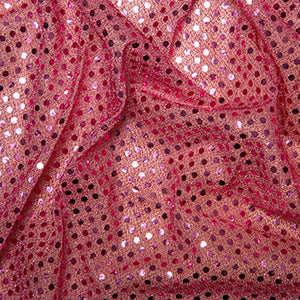 Sequin Knit Fabric Pink C1778