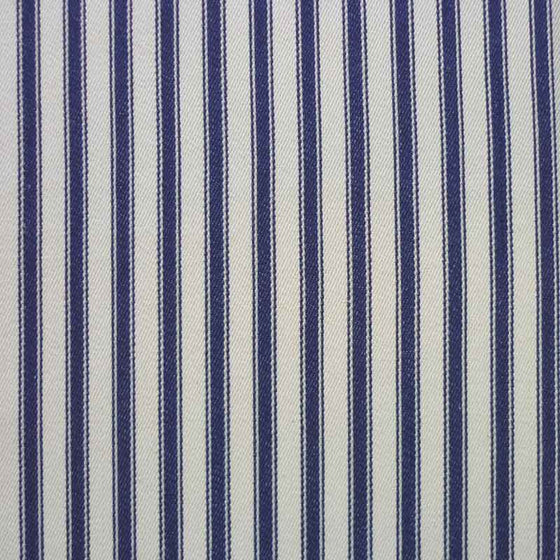 "Cotton Ticking 137cm/54"" Wide Woven Navy Stripe - The Fabric Bee"