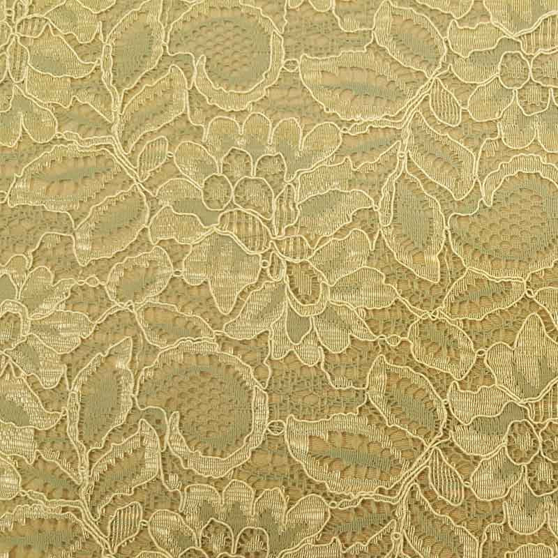 Lace Tocca Cream/Aqua - The Fabric Bee