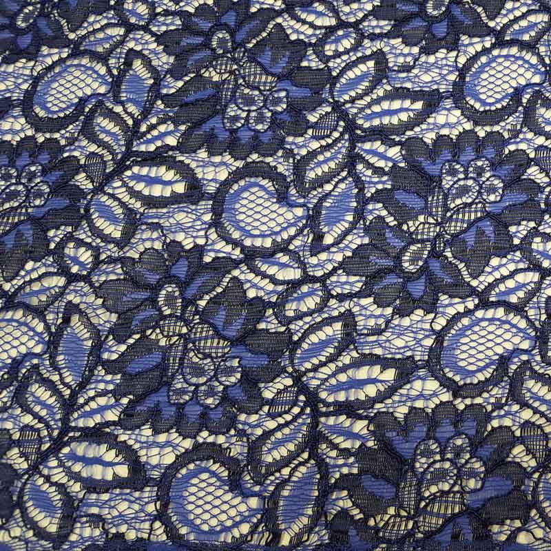 Lace Tocca Royal Blue/Navy - The Fabric Bee