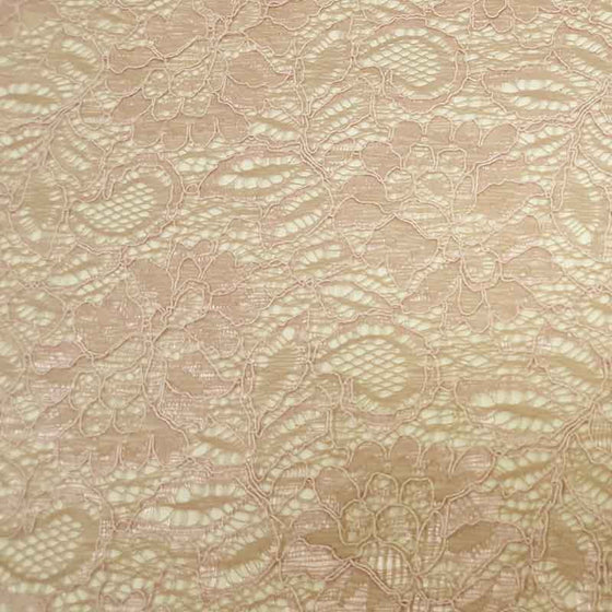 Lace Tocca Shell Pink - The Fabric Bee