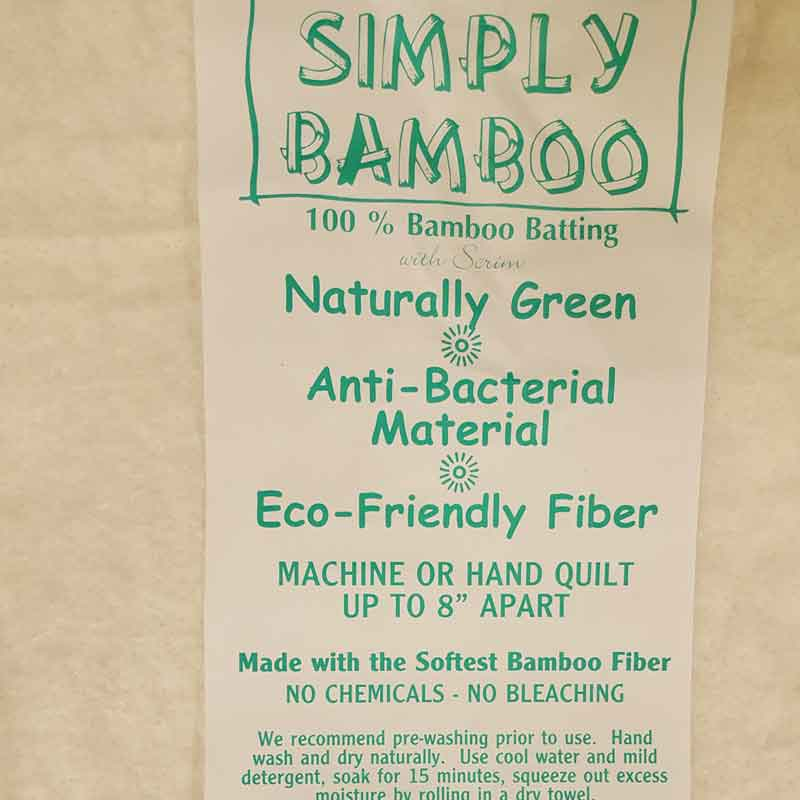 "Simply Bamboo Wadding 90""/230cm Wide - The Fabric Bee"