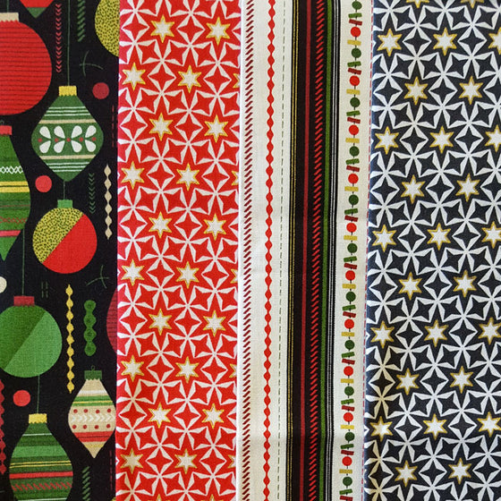 Christmas Baubles 4 Fat Quarter Pack