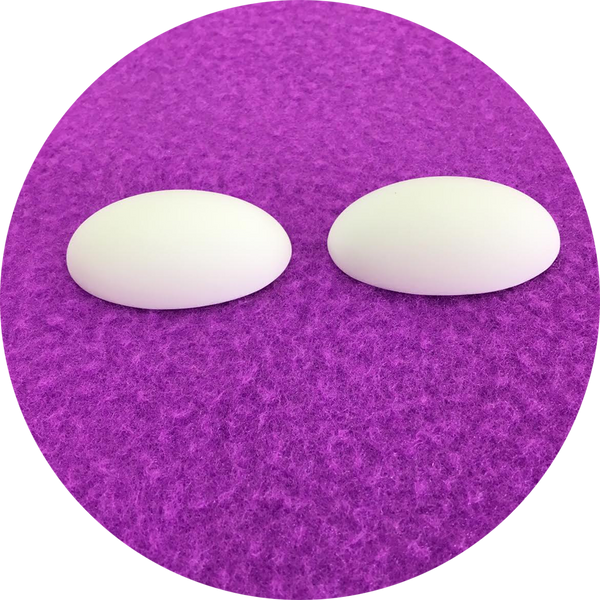 Oval Polished Puppet Eyes Blanks