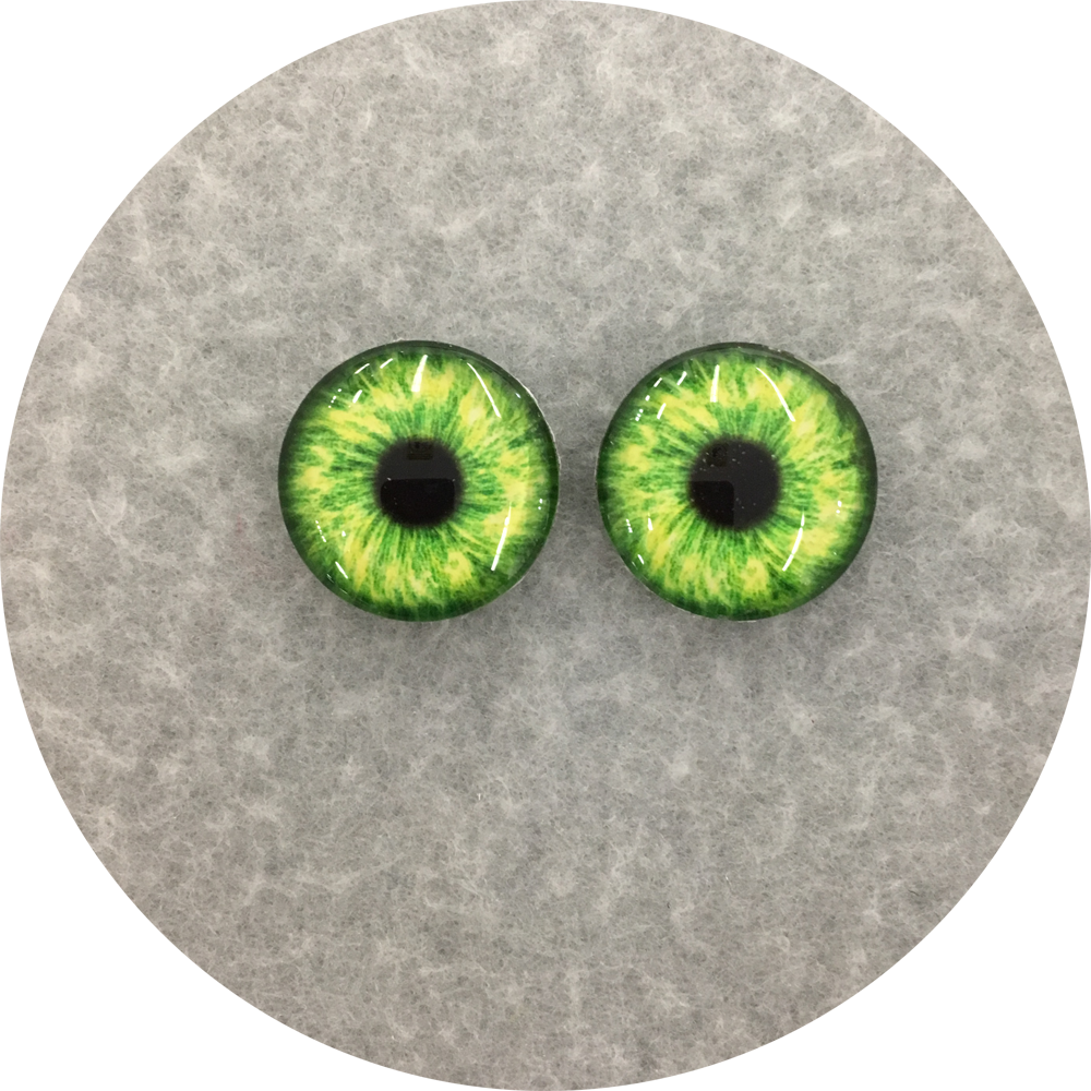 Grass Cabochon Iris Puppet Eyes 19mm