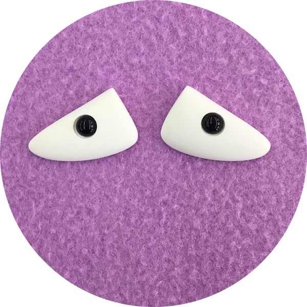 Triangle Polished Puppet Eyes with Pupil