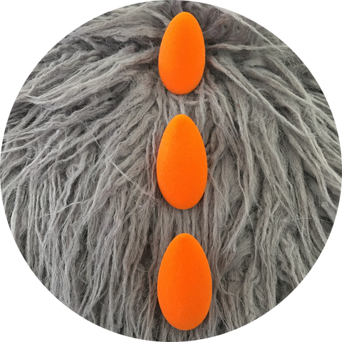 Orange flocked spine