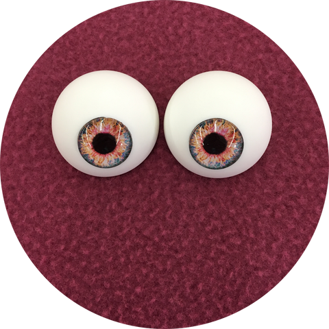 Candy Floss Cabochon Puppet Eyes 44mm