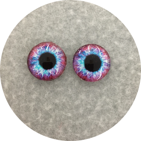 Purple Haze Cabochon Iris Puppet Eyes 19mm