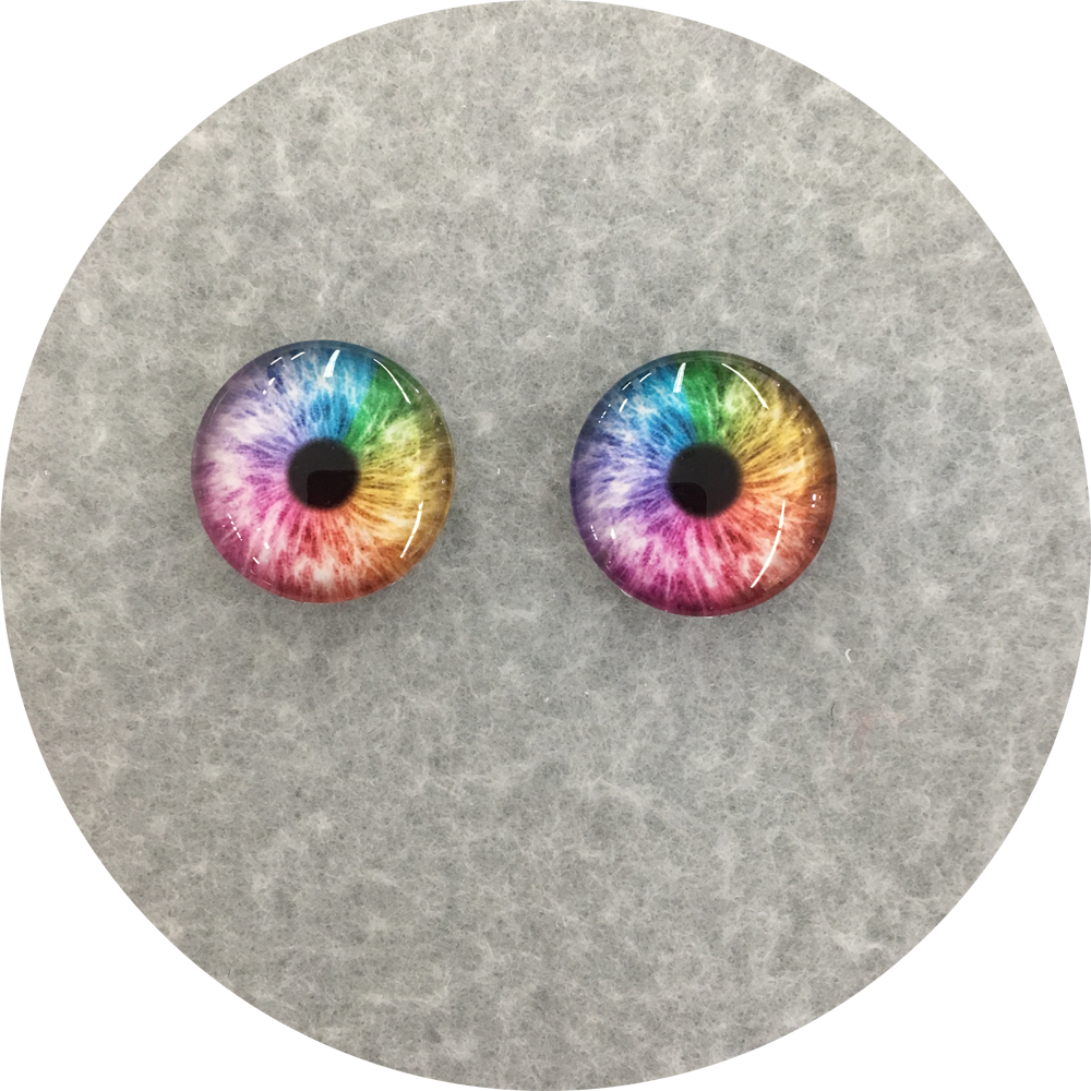 Rainbow Small Pupil Cabochon Iris Puppet Eyes 19mm