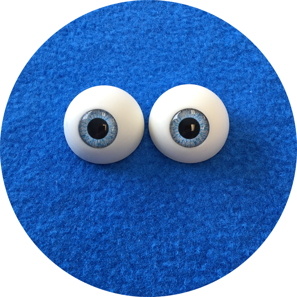 Baby Blue Cabochon Puppet Eyes 44mm