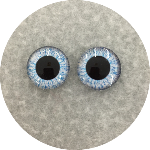 Baby Blue Cabochon Iris Puppet Eyes 19mm