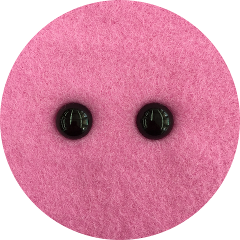 Bulk 16mm black beady eyes (13 pairs)