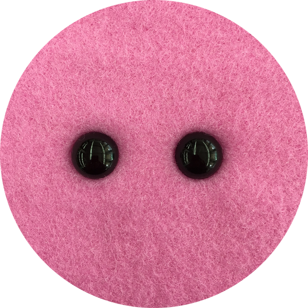 16mm black beady eyes with plastic fastener