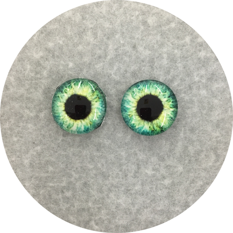 Celery Cabochon Iris Puppet Eyes 19mm