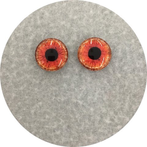Fireball Cabochon Iris Puppet Eyes 19mm