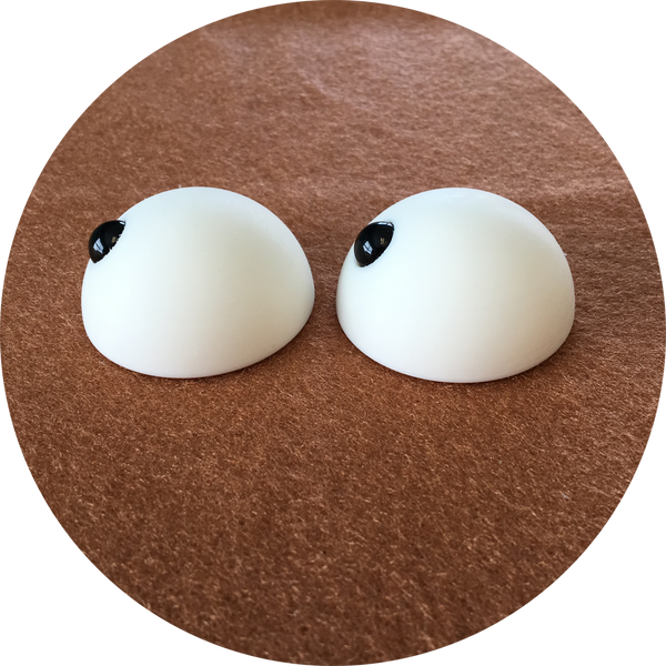 Domed with Pupil Puppet Eyes 45mm