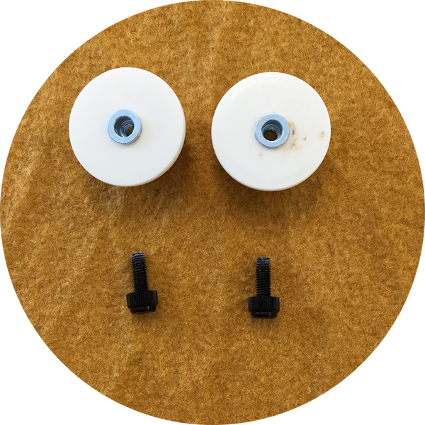 Gold Cabochon Puppet Eyes 44mm