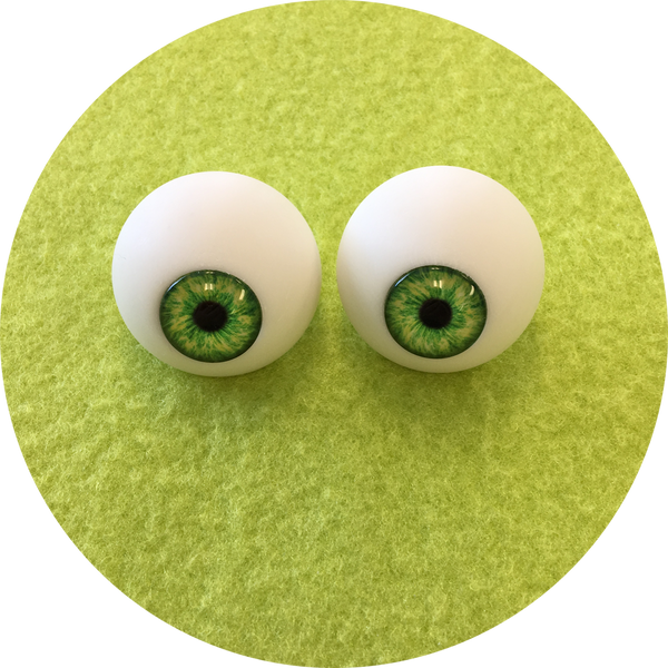Grass Cabochon Puppet Eyes 44mm