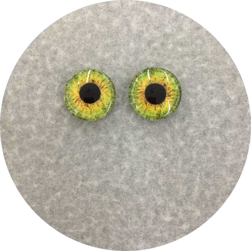 Green Cabochon Iris Puppet Eyes 19mm