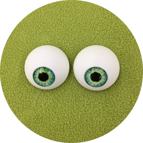 Lily Pad Cabochon Puppet Eyes 44mm