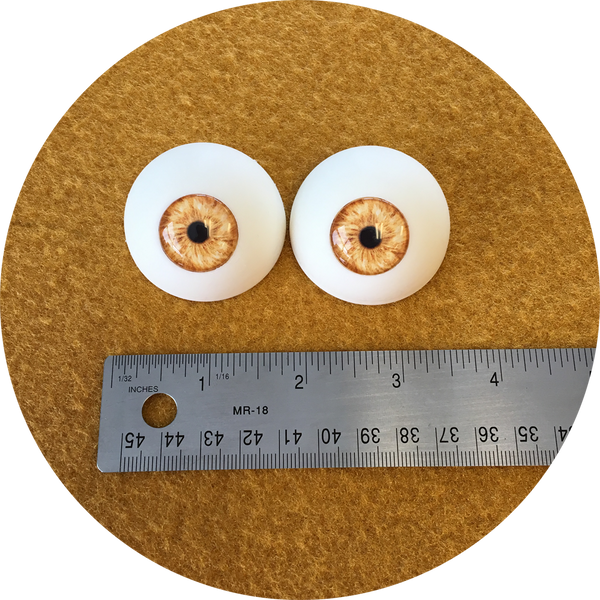 Light Brown Cabochon Puppet Eyes 44mm