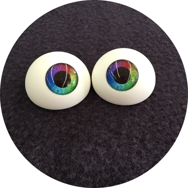 Rainbow Large Pupil Cabochon Puppet Eyes 44mm