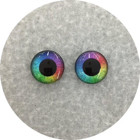 Rainbow Large Pupil Cabochon Iris Puppet Eyes 19mm