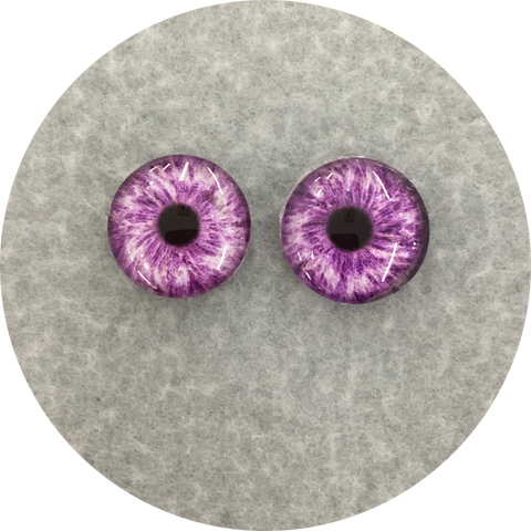 Violet Cabochon Iris Puppet Eyes 19mm