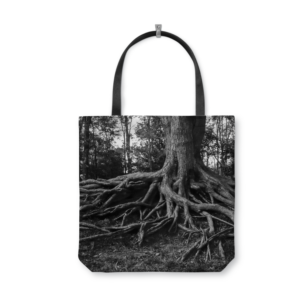 Gnarled Tree Roots Tote Bag - Reusable Shopping Bag