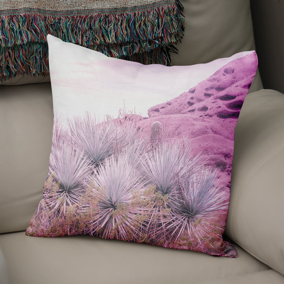 Dream Desert Scene Throw Pillow - 5 Sizes