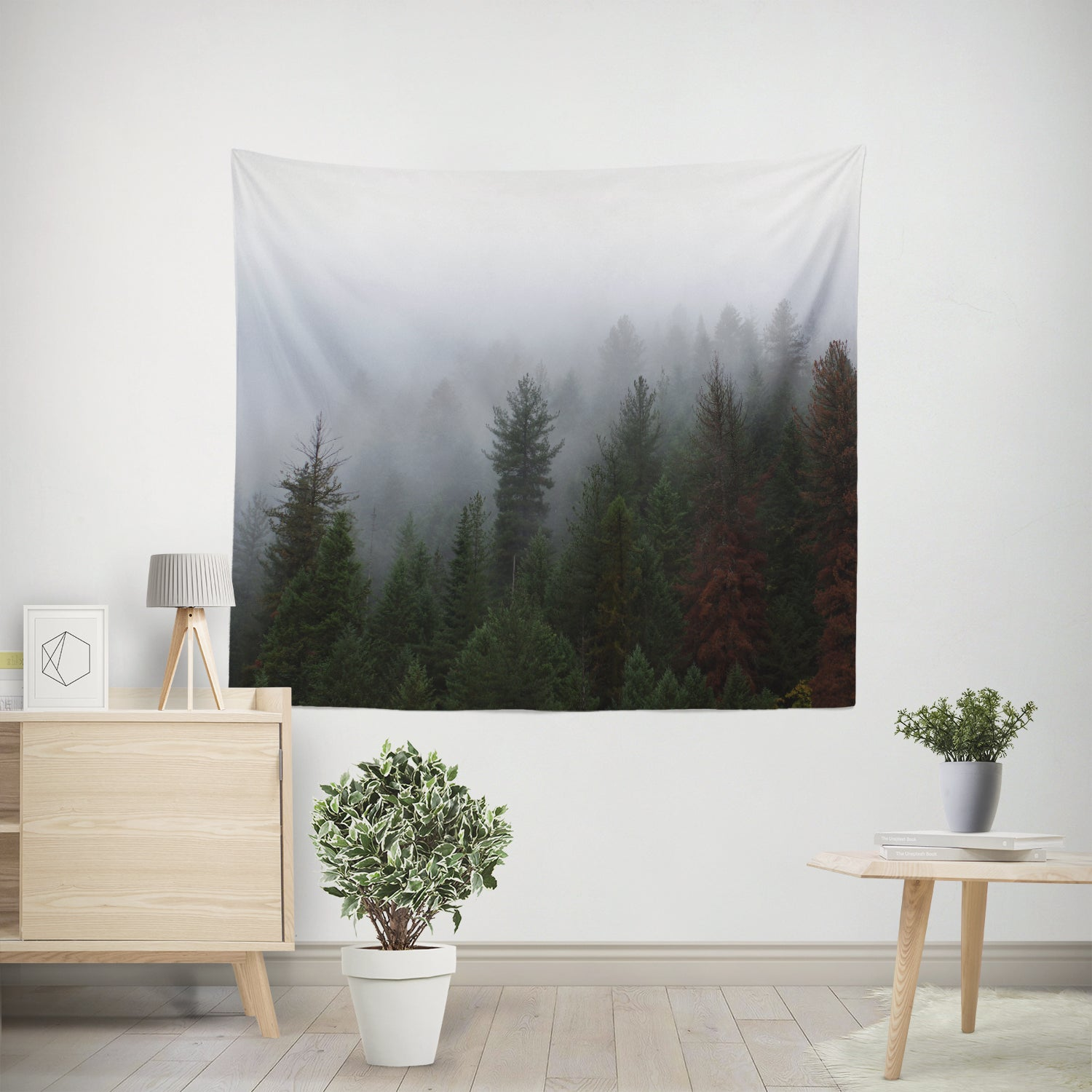 Foggy Forest Nature Wall Hanging