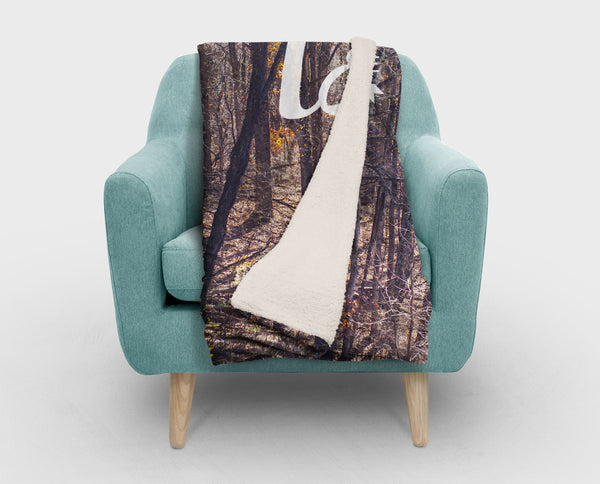 Let's Get Lost Modern Sherpa Fleece Blanket - 2 Sizes